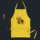 "Butterfly Sunflower Garden Adult Apron<br><div class=""desc"">Summer Mix Bouquet with Sunflowers,  Delphiniums and a butterfly</div>"