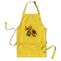 Butterfly Sunflower Garden Adult Apron