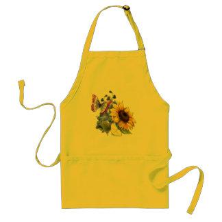 Butterfly Sunflower Garden Adult Apron