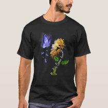 Butterfly Sunflower Gastric Cancer Awareness T-Shirt