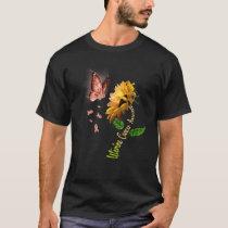 Butterfly Sunflower Uterine Cancer Awareness T-Shirt