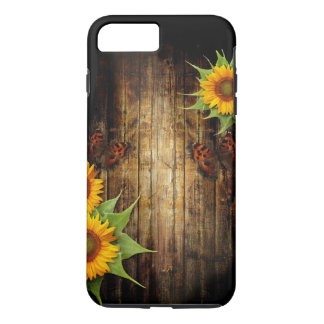 Butterfly & Sunflowers Tough iPhone 7 Plus Case