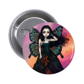 """Butterfly Sunset"" Button"