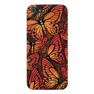 Butterfly Swarm Brown Orange Cover For iPhone 5