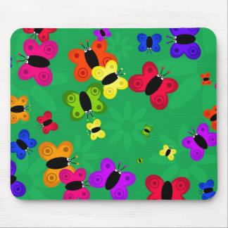 Butterfly Swarm Mouse Pads
