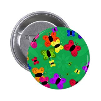 Butterfly Swarm Pinback Button