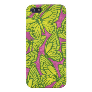 Butterfly Swarm Pink and Green iPhone 5 Covers
