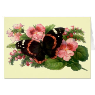 Butterfly & Sweet Pea Floral Garden Gifts Design Card