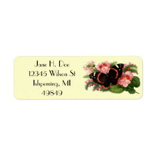 Butterfly Sweet Pea Garden Return Address Labels