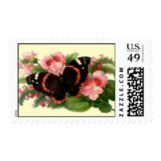 Butterfly Sweet Pea Nature Outdoor GARDEN STAMP
