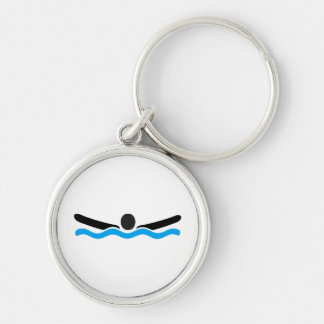 butterfly swimming key chains