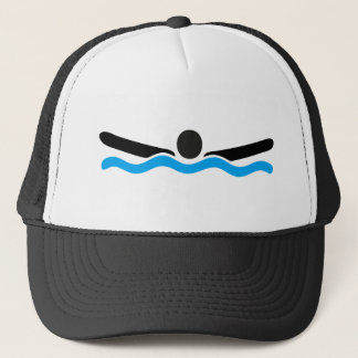 butterfly swimming trucker hat