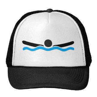 butterfly swimming trucker hat
