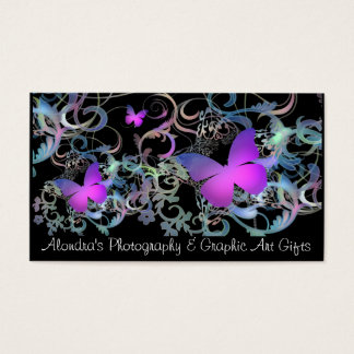 Butterfly Swirl Business Card