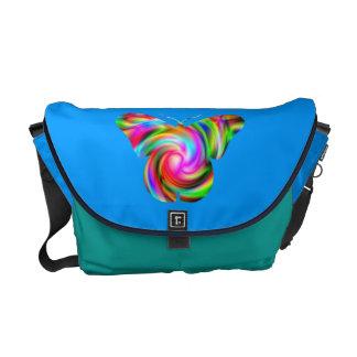 Butterfly Swirl Rickshaw Messenger Bag