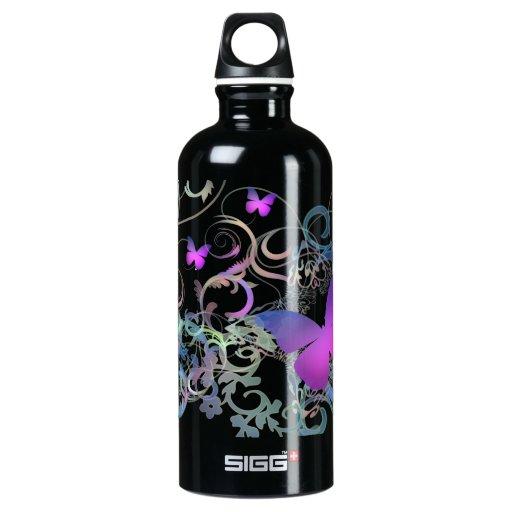 Butterfly Swirl SIGG Traveler 0.6L Water Bottle