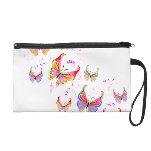 Butterfly swirl wristlet purses