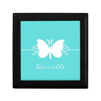Butterfly Swirls Gift Box, Aqua Jewelry Box