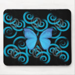 Butterfly Swirls Mouse Pad