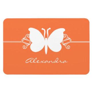 Butterfly Swirls Premium Magnet, Orange Magnet