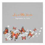 Butterfly Swirls Save The Date Wedding Invitation