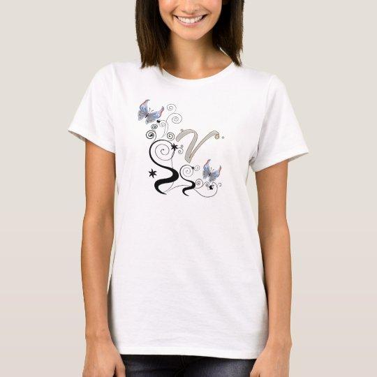 Butterfly swirls V T-Shirt