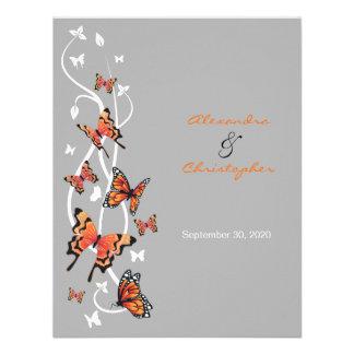 Butterfly Swirls Wedding Announcement 2