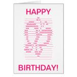 Butterfly symbol birthday card