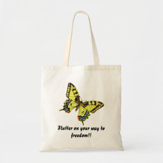 Butterfly symbolizing freedom tote bag