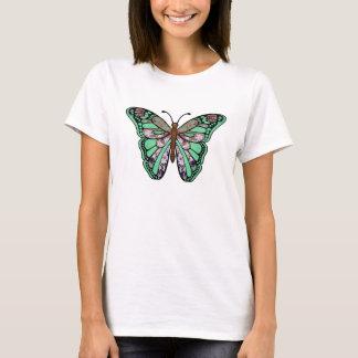 Butterfly T-shirt - Green Flower Garden