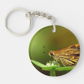 Butterfly Tamil Grass Dart with Bokeh Background Keychain