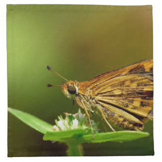 Butterfly Tamil Grass Dart with Bokeh Background Cloth Napkins
