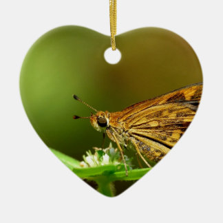 Butterfly Tamil Grass Dart with Bokeh Background Christmas Ornament