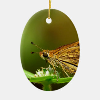 Butterfly Tamil Grass Dart with Bokeh Background Christmas Tree Ornaments
