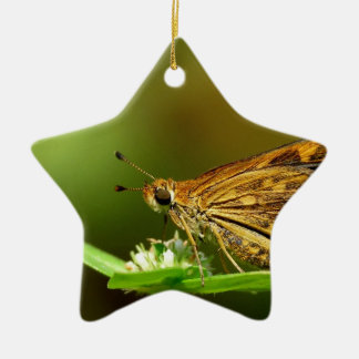 Butterfly Tamil Grass Dart with Bokeh Background Christmas Ornaments