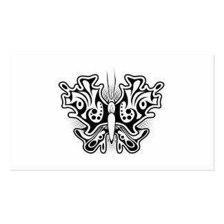 Butterfly Tattoo Black and White Business Cards