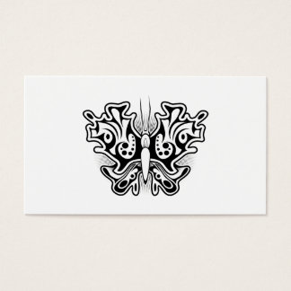 Butterfly Tattoo Black and White Business Card