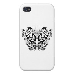 Butterfly Tattoo Black and White Case For iPhone 4