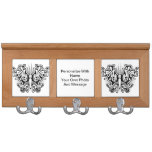 Butterfly Tattoo Black and White Coat Rack