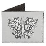 Butterfly Tattoo Black and White Tyvek® Billfold Wallet