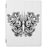 Butterfly Tattoo Black and White iPad Cover