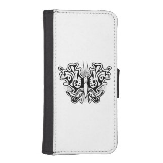 Butterfly Tattoo Black and White iPhone SE/5/5s Wallet Case