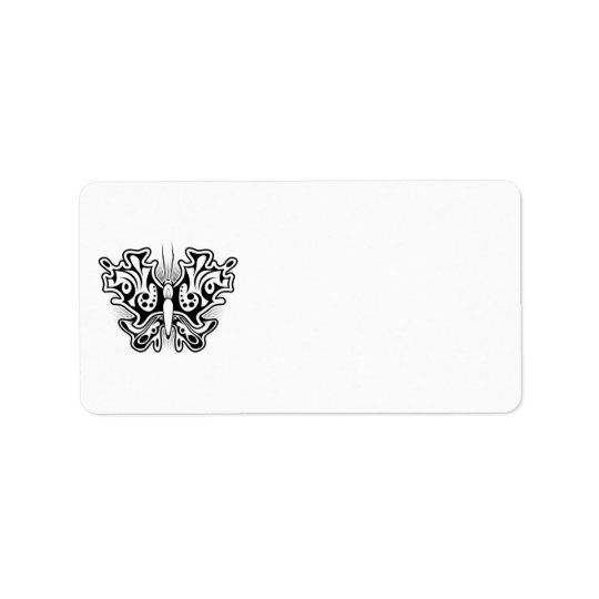 Butterfly Tattoo Black and White Label