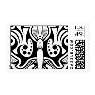 Butterfly Tattoo Black and White Postage