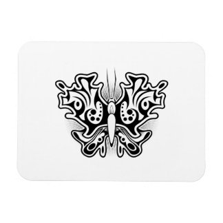 Butterfly Tattoo Black and White Rectangular Photo Magnet