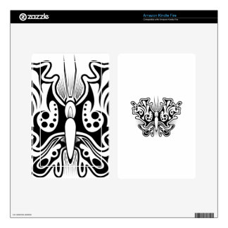 Butterfly Tattoo Black and White Skin For Kindle Fire