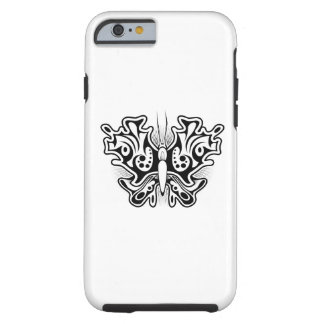 Butterfly Tattoo Black and White Tough iPhone 6 Case