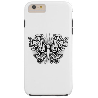 Butterfly Tattoo Black and White Tough iPhone 6 Plus Case