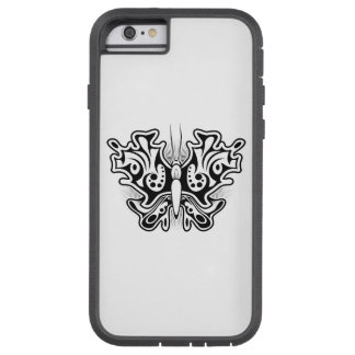 Butterfly Tattoo Black and White Tough Xtreme iPhone 6 Case