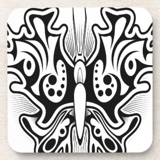 Butterfly tattoo design beverage coasters